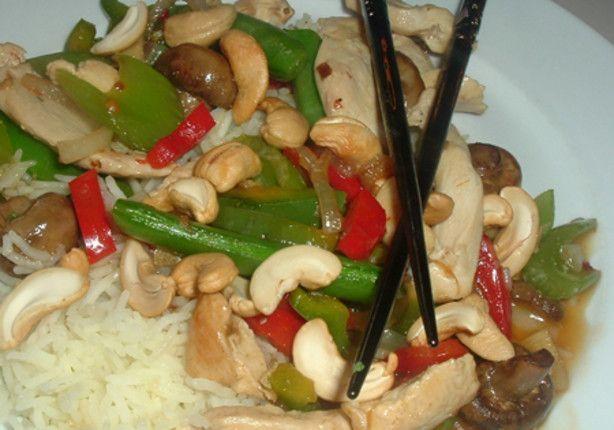 Cashew Chicken Stir-Fry -