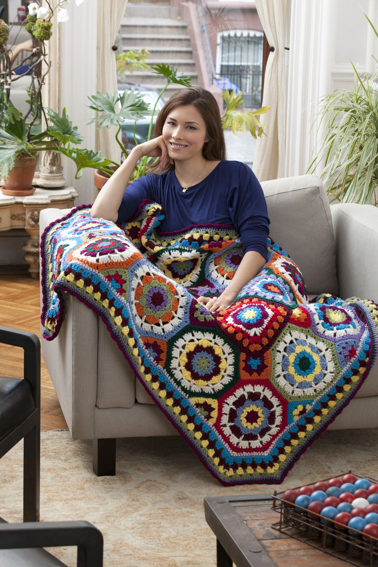 In Love with Color Throw | вязание | Pinterest