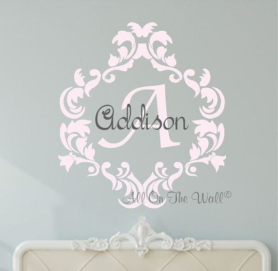 Oooh I Like This One Monogram Wall Decal Baby Girl Nursery Vinyl - Monogram wall decals for nursery