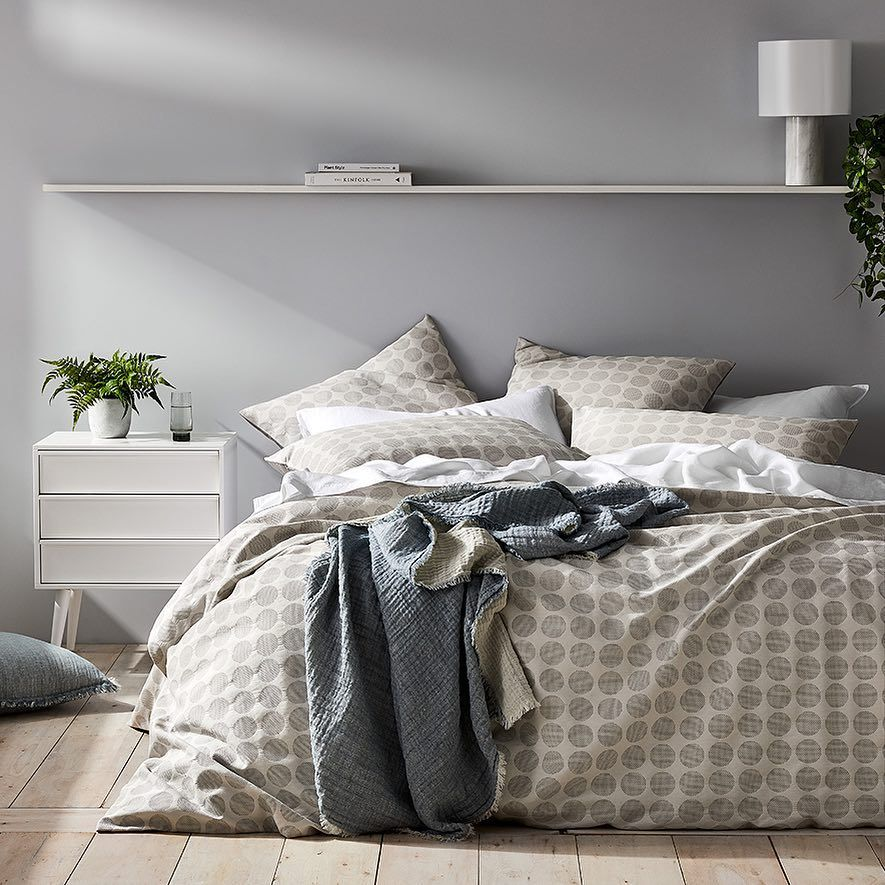 Looking For Neutral Coloured Bedlinen The Tonka Quilt Cover Set Is A Great Example Of How A Neutral Design Can Quilt Cover Sets Quilt Cover Grey Linen Bedding