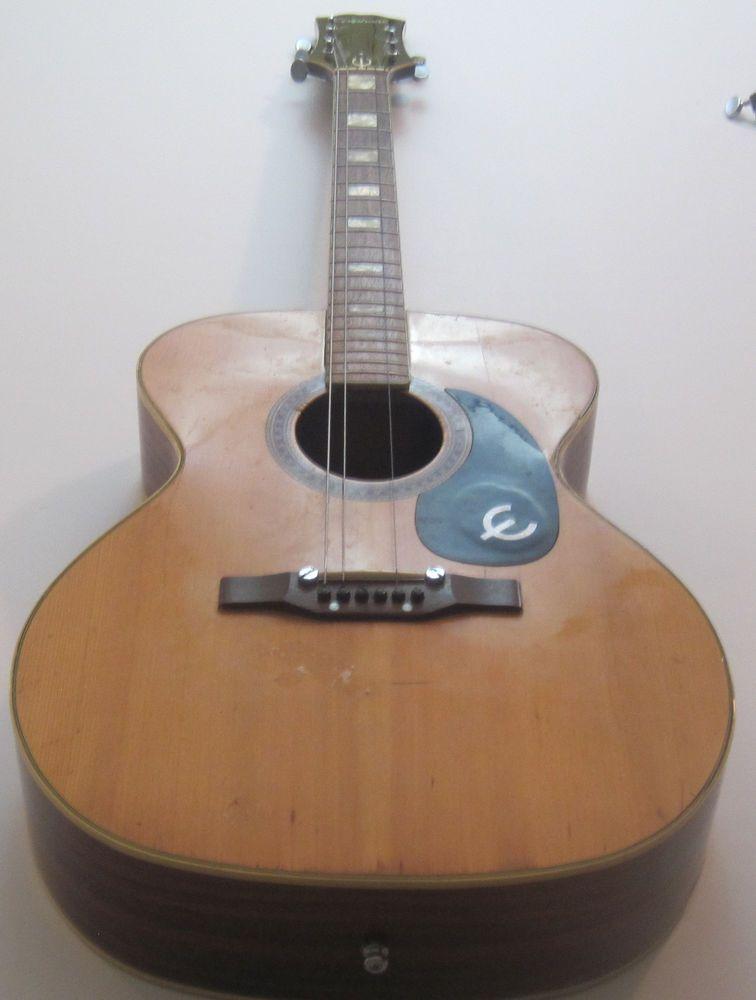 vintage 70s epiphone ft 135 cortez blue label acoustic guitar project in 2019 epiphone. Black Bedroom Furniture Sets. Home Design Ideas