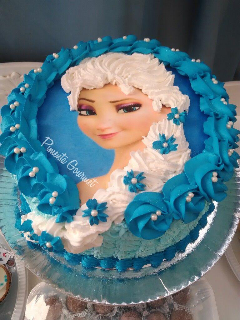Bolo Elsa Frozen Chantilly Papel Arroz Bolo Elsa Bolo Frozen Bolo