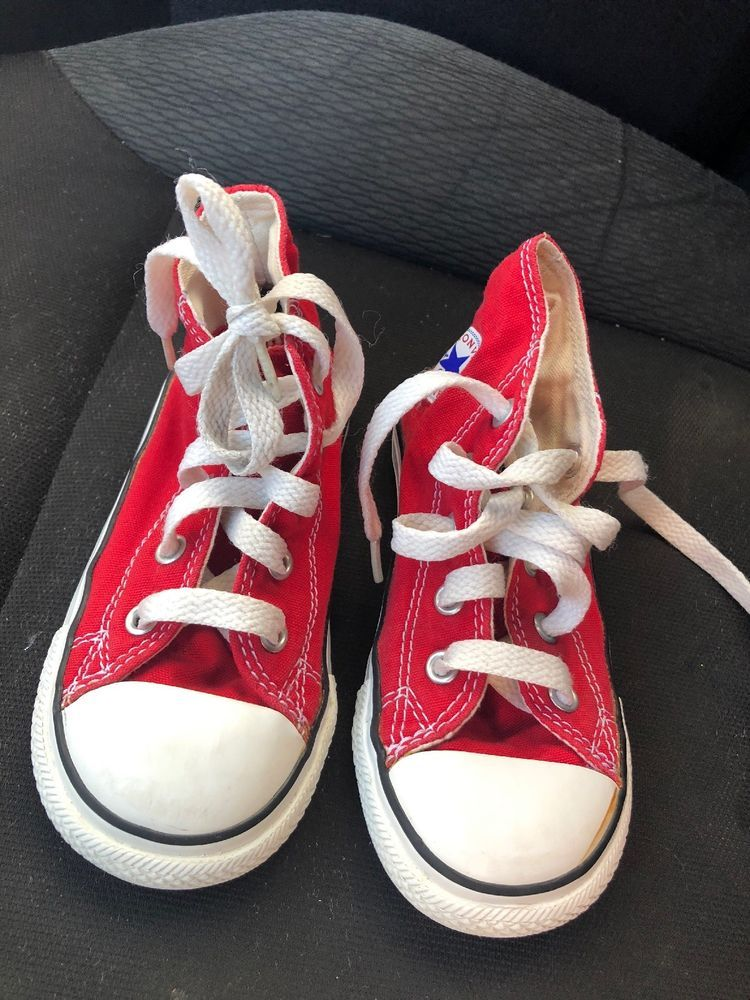0844420faeaf EUC toddler Baby CONVERSE high Top Red Size 8 Shoes  fashion  clothing   shoes  accessories  babytoddlerclothing  babyshoes (ebay link)