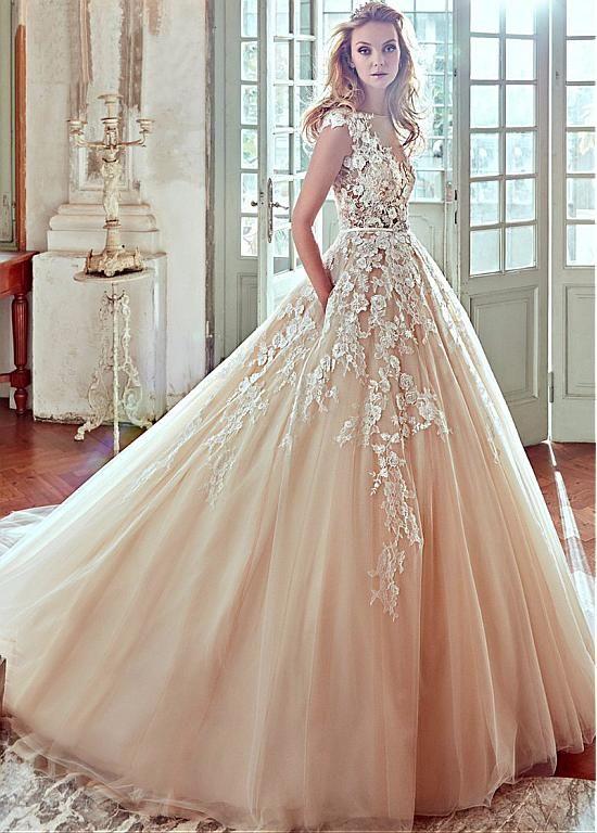 comprar Vestidos de novia de tul elegante Bateau escote A-Line con ...