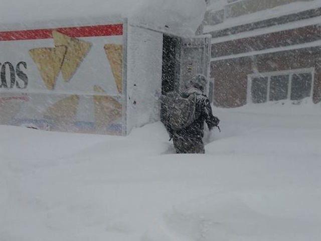 buffalo, new york, snow storm, blizzard, cuomo, doritos truck