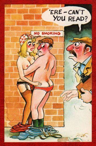 Postkort Comic Cardtoon Prof - Serie D C68 - Rude Saucy-8719