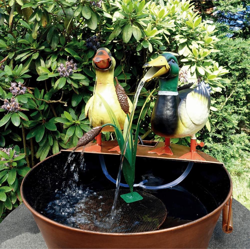 Brunnen Enten Paar Metall Wasserspeier Brunnen Wasserspeier Brunnen Garten