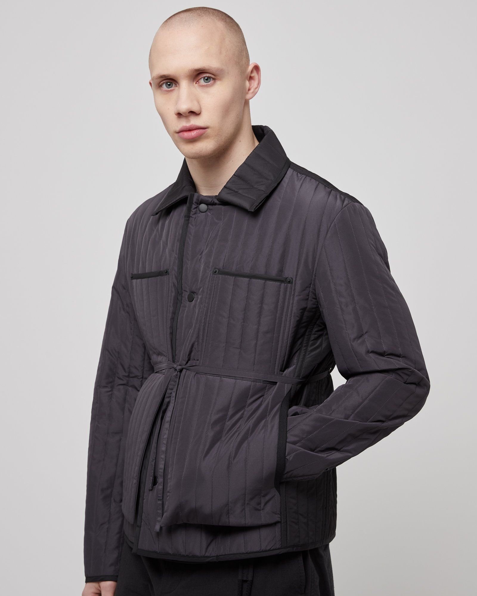 Quilted Worker Jacket In Gray Roden Gray In 2020 Jackets British Fashion Awards Quilted