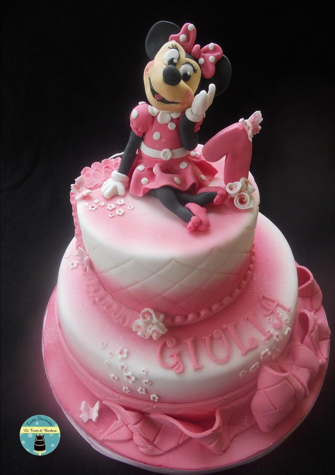 Le torte di barbara torta minnie per il primo compleanno for Idee per torta di compleanno