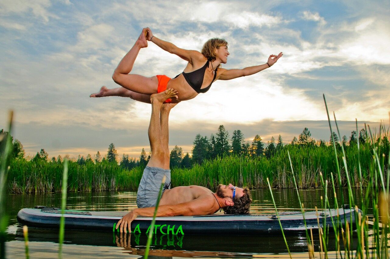 Jason and Chelsey Magness of the YogaSlackers in Bend