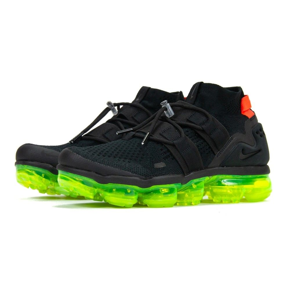189bfd59aeb3 NIKE Nike Air VaporMax Flyknit Utility (BLACK BLACK-VOLT-BRIGHT CRIMSON)  MEN at Hyde Park