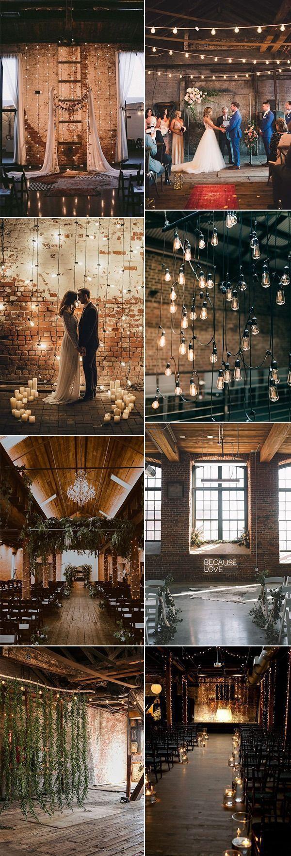 Trending Industrial Wedding Decoration Ideas Weddingday Romanticweddingreceptio In 2020 Industrial Wedding Decor Industrial Chic Wedding Industrial Wedding Ceremony