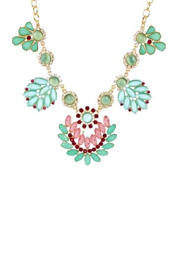 Mint Leaf Statement Necklace