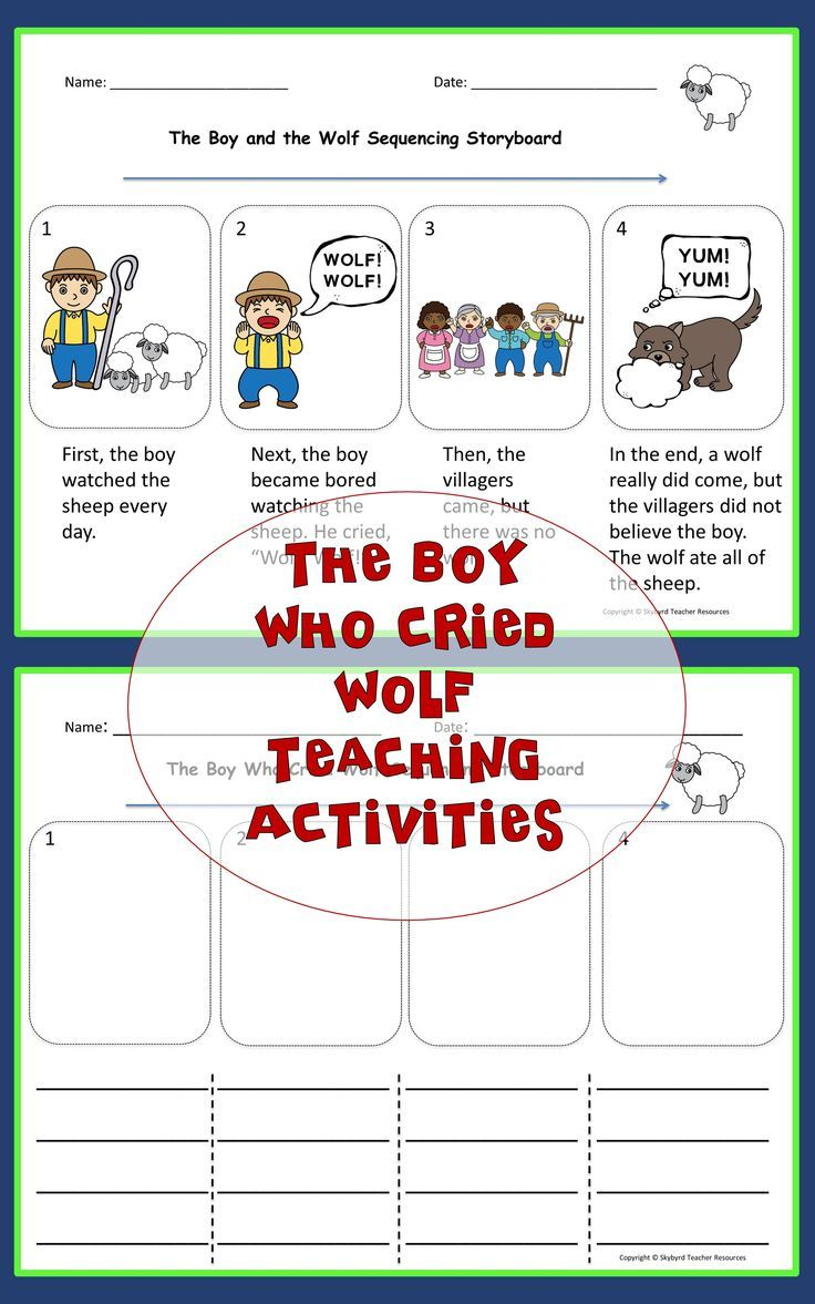 The Boy Who Cried Wolf Aesop Fable Activities Great For Esl Gen Ed English Writing Exercises Reading Comprehension Kindergarten Teach English To Kids [ 1177 x 736 Pixel ]