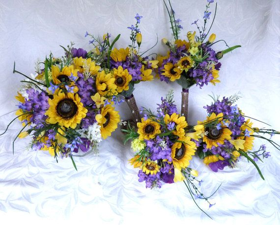 Outdoor Sunflower Wedding Ideas Reserved Sunflower Wedding Country Wedding Sunflower Bouquet Set Sunflower Wedding Bouquet Sunflower Wedding Wedding Bouquets