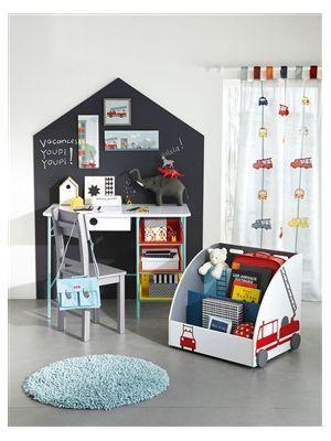 vertbaudet Runder Kinderteppich aus Chenille Blau Gr.0 | homeToday.de