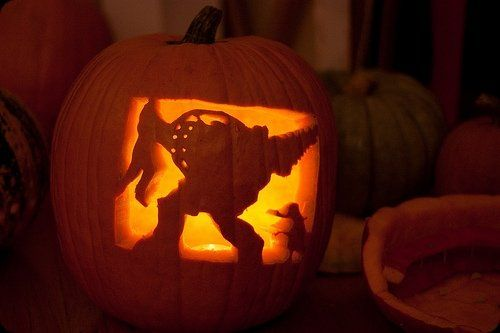 Awesome pumpkin carving video game stencils images pumpkins