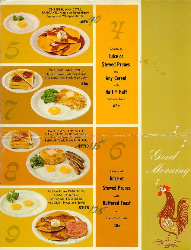 1969 Bob S Big Boy Menu Page 2 Www Bobs Net Visual Recipes Dining Menu Diner Recipes