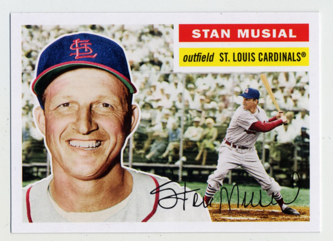 1956 Stan Musial Baseball Card Google Search St Louis Cardinal