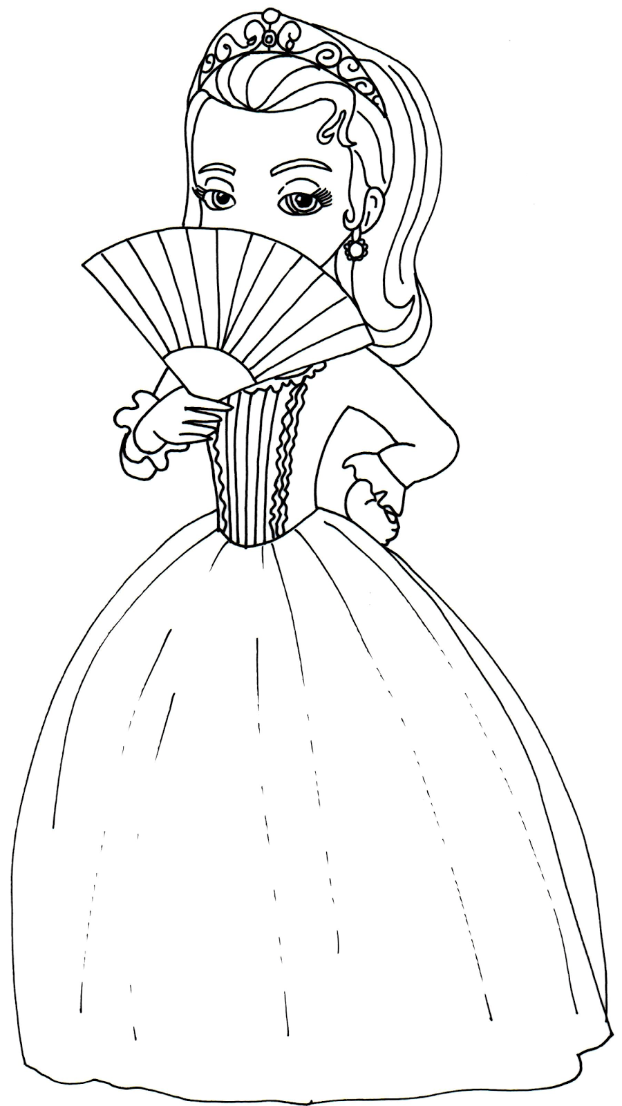 Princess sophia printable coloring pages - Sofia The First Coloring Pages Amber