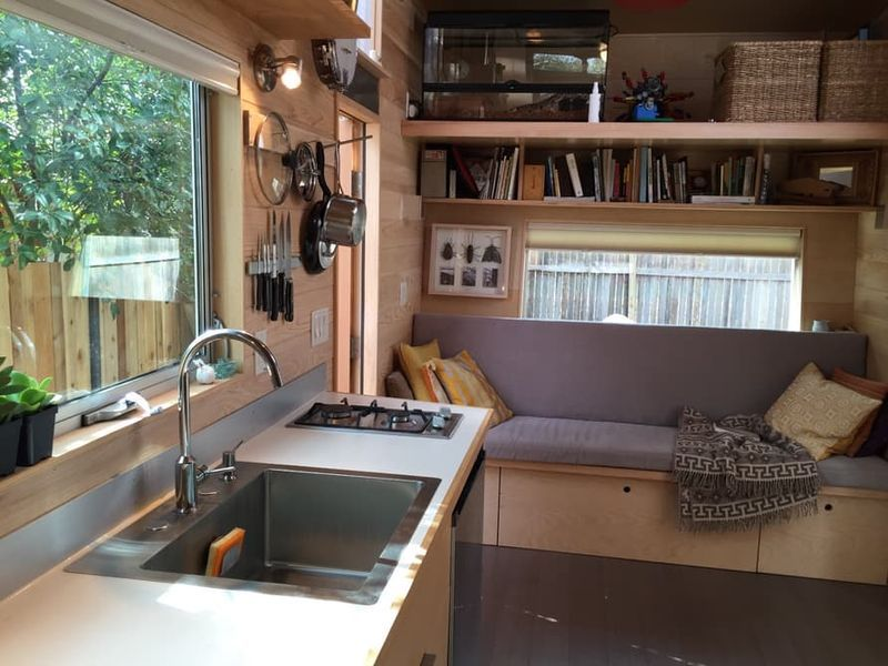 Camper-Like Tiny House Masters Small-Space Efficiency Kitchen
