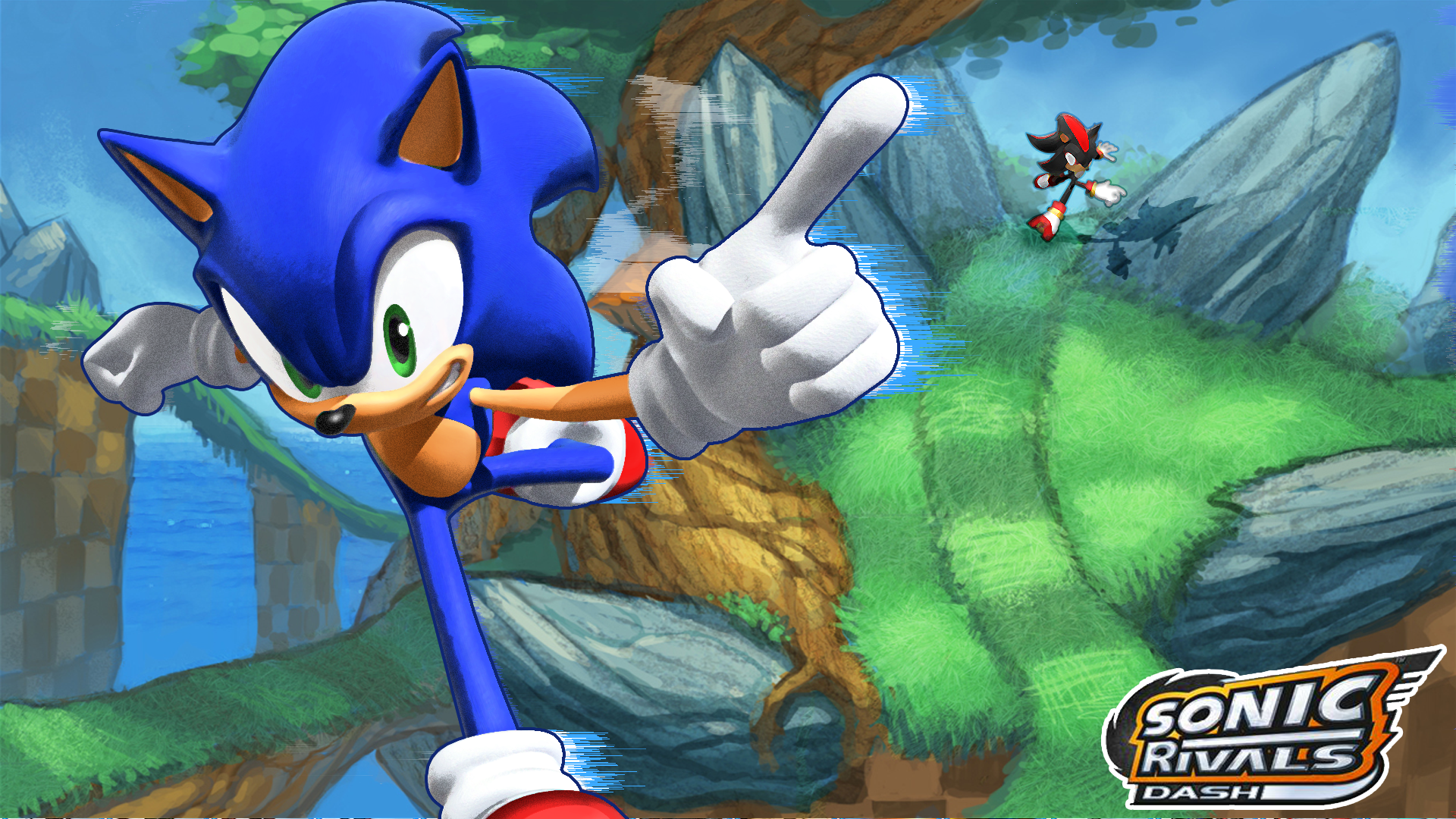 I Photoshopped Sonic And Shadow In A Concept Background From A Stage In Sonic Rivals I Think It Looks Okay Sonic And Shadow Sonic Sonic The Hedgehog