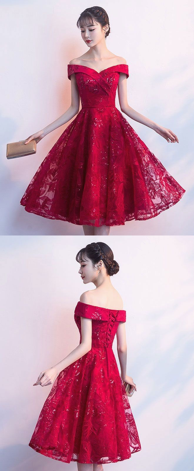 Description cute burgundy short prom dress homecoming dress