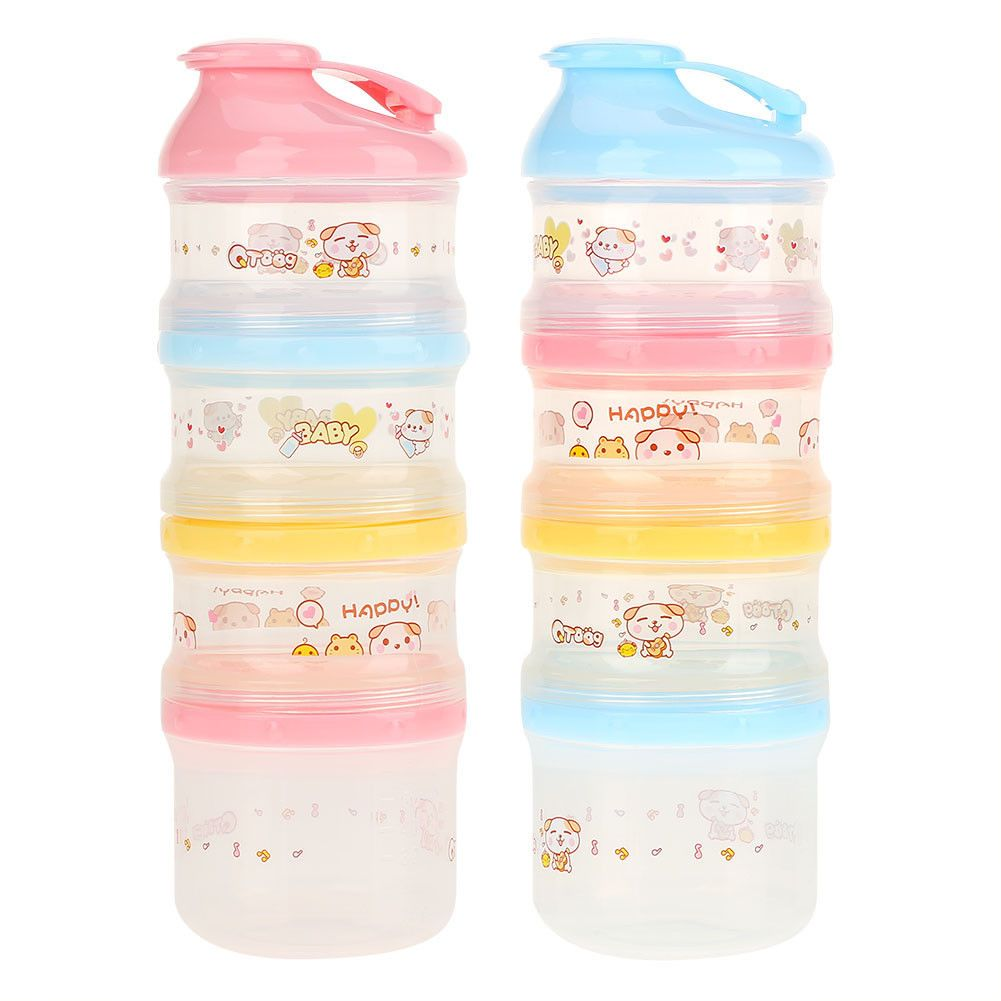 Portable Baby Feeding Milk Powder Food Box Storage Bottle Container 4 Layers