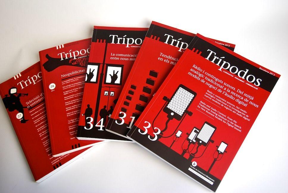 Revista Trípodos. Cobertes. Facultat de Comunicació Blanquerna, Universitat Ramon Llull, 2010-2014