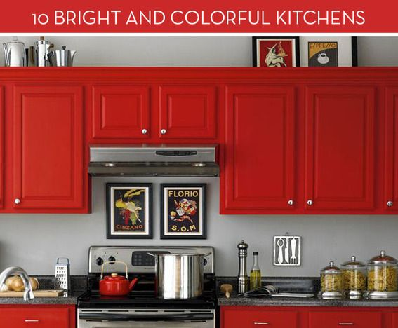 I M So In Love With This Red Kitchen Kitchen Red Kitchen Cabinets Kitchen Design Small Kitchen Cabinets Makeover