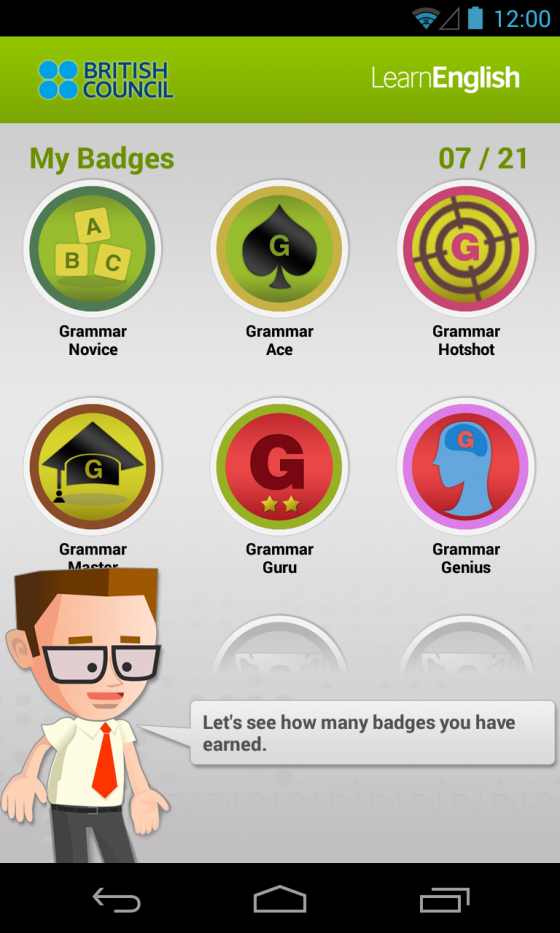 Apps | LearnEnglish | British Council | Johnny Grammar's