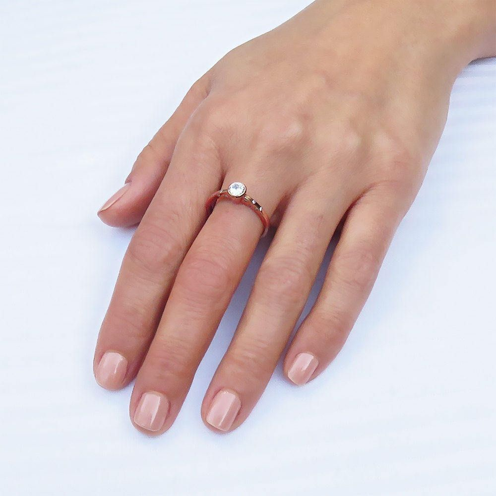 Engagement ring, Rose gold diamond ring, Alternative engagement ring ...