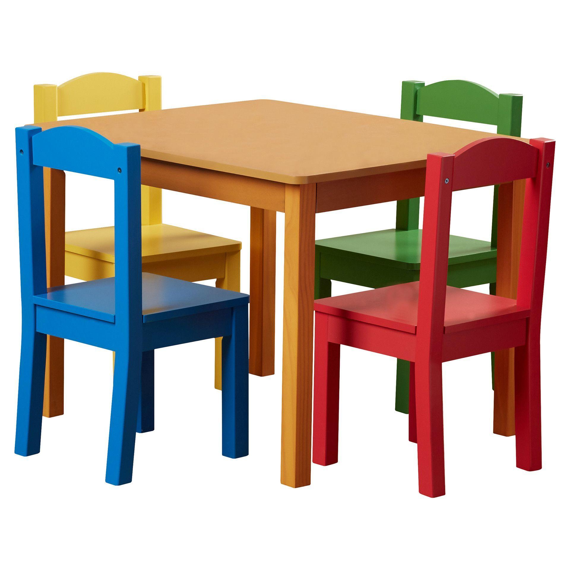 Zoomie Kids Samira Kids 5 Piece Table And Chair Set Kids Table And Chairs Table And Chairs Kids Table Chair Set