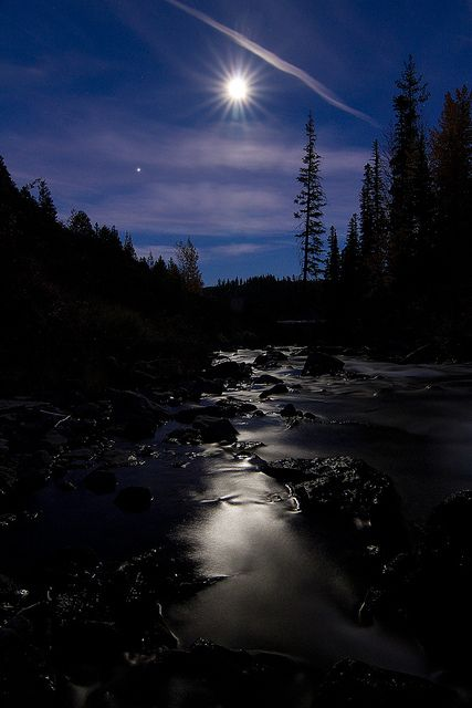 Moon Aura Night Landscape Nature Pictures Nature Scenes