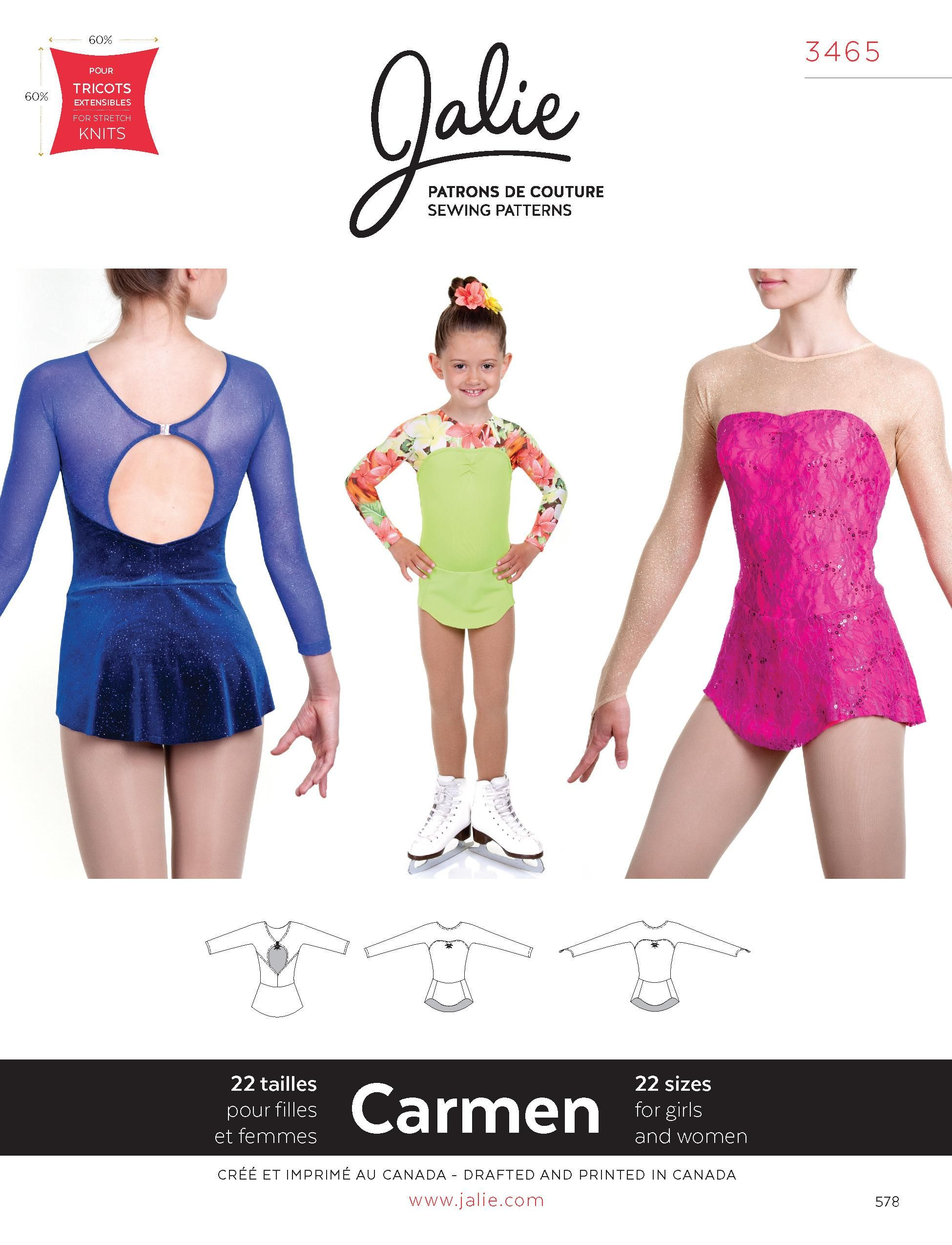 Jalie 3465 - Carmen Skating Dress - PDF Pattern | PDF Patterns ...
