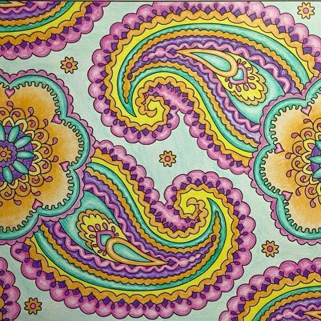 Finished Page From Creative Haven Mehndi Designs DesignsColoring BooksPaisleyArt