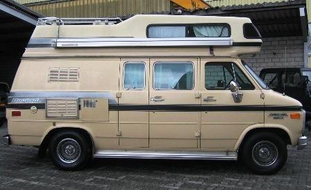 Chevrolet Van G20 Alkoven Horizon 170 Camper 4 3 V6 Aut 1985 Dusche Chevrolet Van Van Camping Van