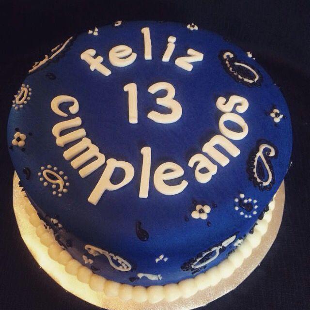 Blue bandana cake Cakes Pinterest Bandanas and Cake