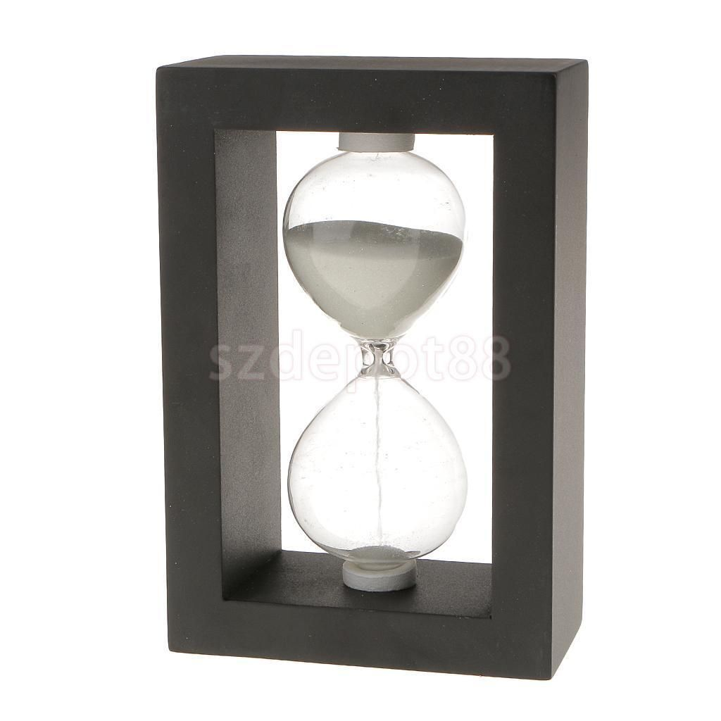 Black Frame Sand Glass Timer Hourglass 5 Minutes Clock Home Ornament ...