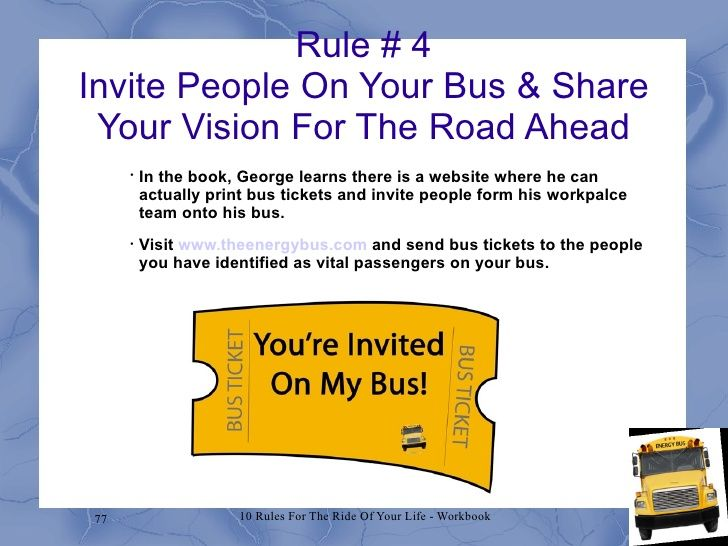Energy bus workshop draft 1 u2026 u2026 The Energy Bus Pinterest - bus ticket template