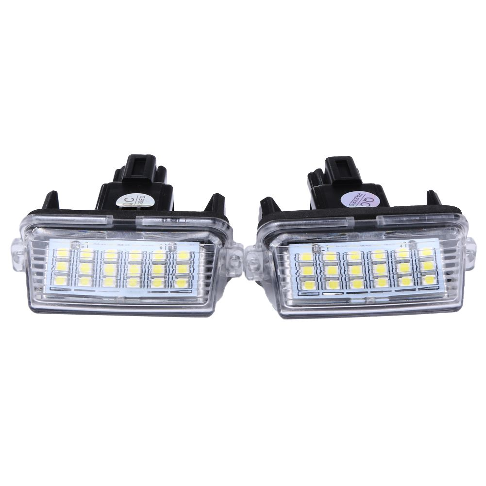 External Lights 1 12pcs 12v 18leds 6000k Led Car License Number Plate Light Bulb External License Plate Lamp For To Toyota Camry External Lighting Number Plate