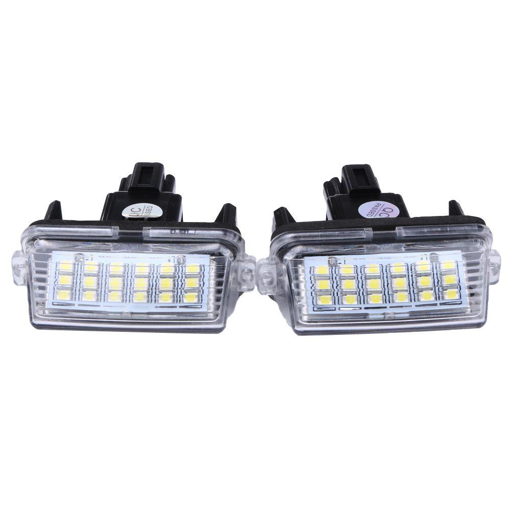 2 Stks 12 V 18 LEDs 6000 K LED Auto Kenteken Plaat Gloeilamp Externe Kentekenverlichting voor Toyota/Camry/Yaris 2012 2013 Cars
