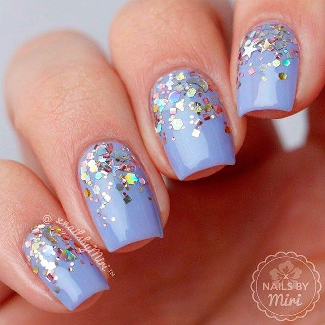 Best of 2018 Glitter Ombre Nails Trends   Glitter ombre nails, Nail ...