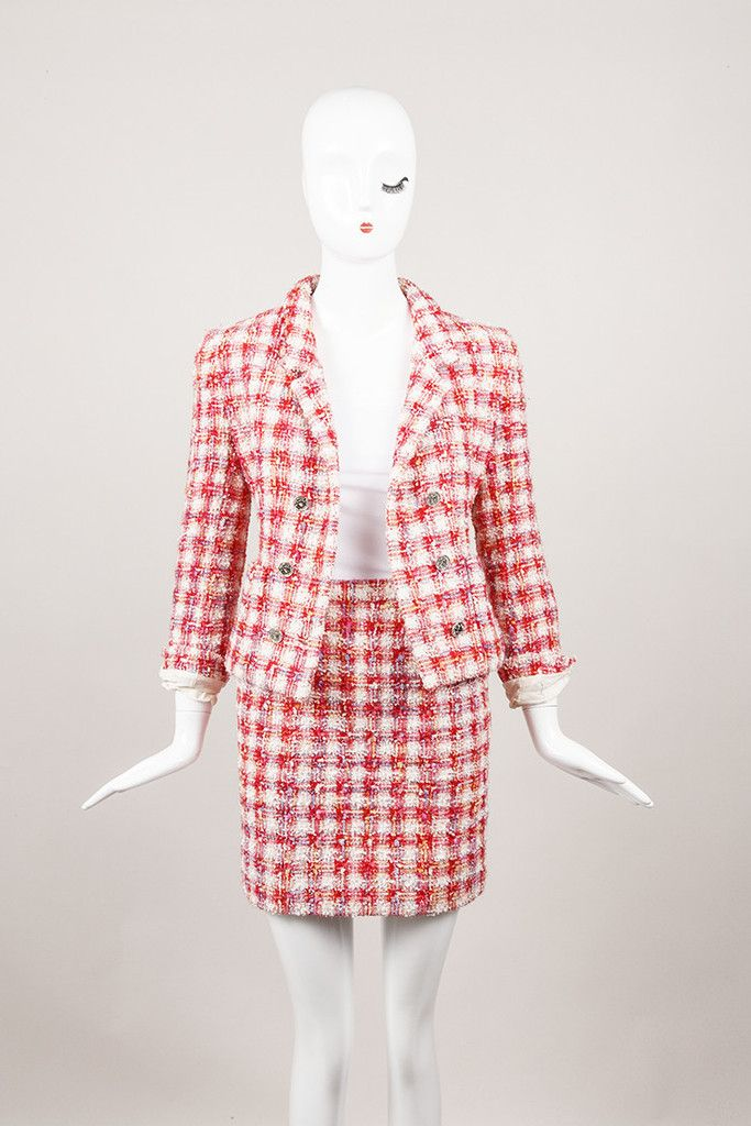 CHANEL Two Piece Wool Blazer and Skirt Suit Set – Luxury Garage Sale