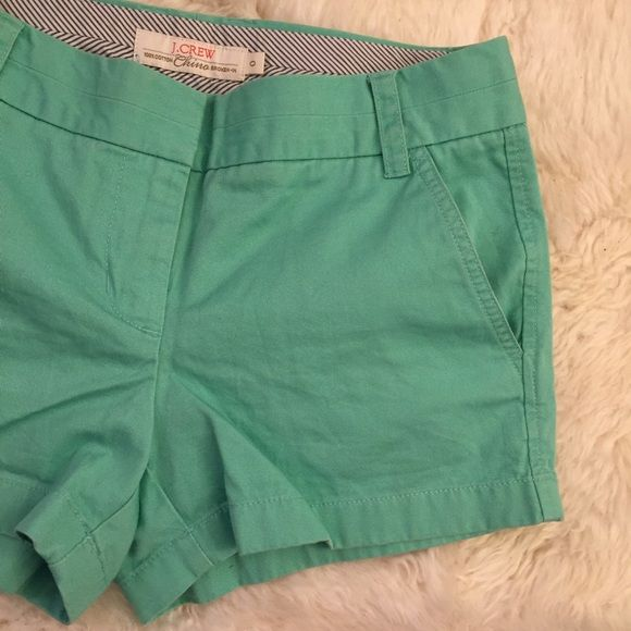J. Crew chino turquoise shorts sz0 Super comfy and flattering shorts, perfect for the summer J. Crew Shorts