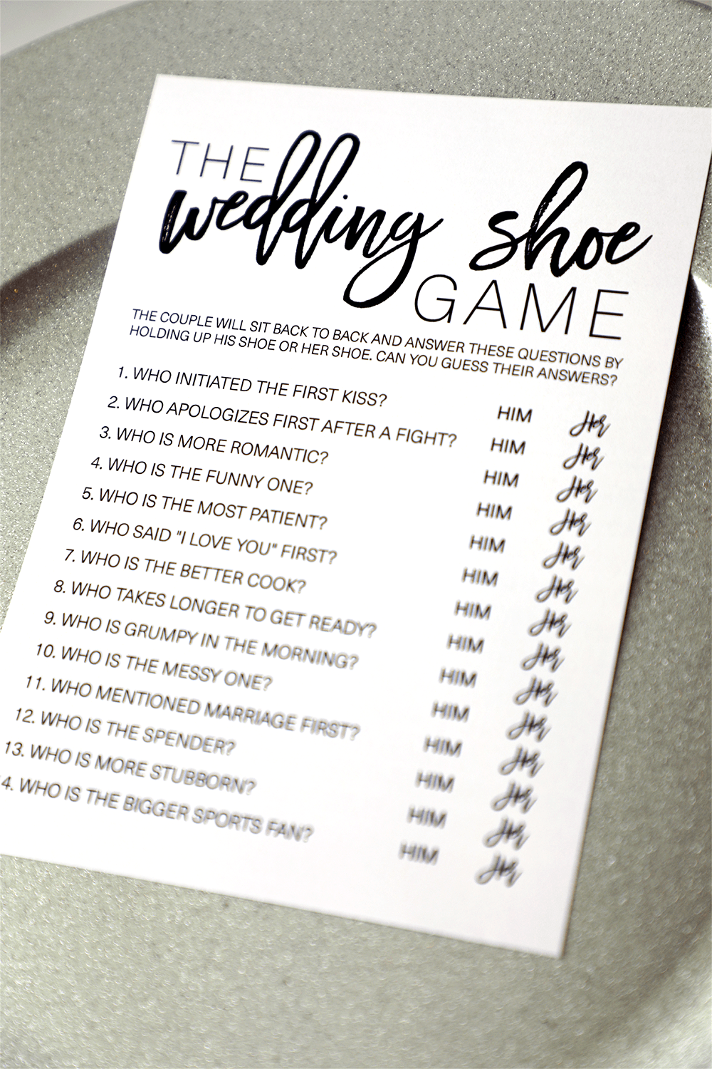 Wedding Shoe Bridal Shower Game. Wedding Shoe Game . Bridal Shower Games #shoegame