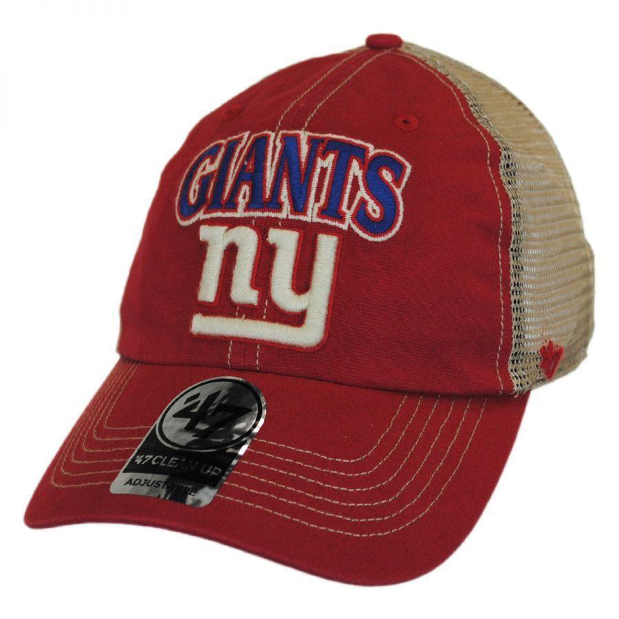 abd50c03ffc 47 Brand New York Giants NFL Tuscaloosa Mesh Fitted Baseball Cap ...