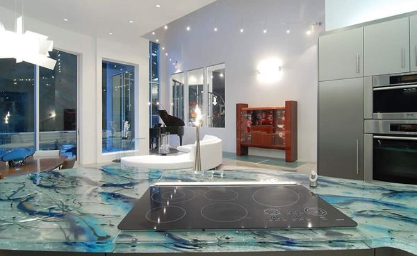 Blended Purity And Art: Tabletops By ThinkGlass · Glass  CountertopsCountertops ...