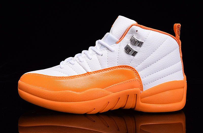 Jordan-Shoes-12-XII-GS-White-Orange-2016-