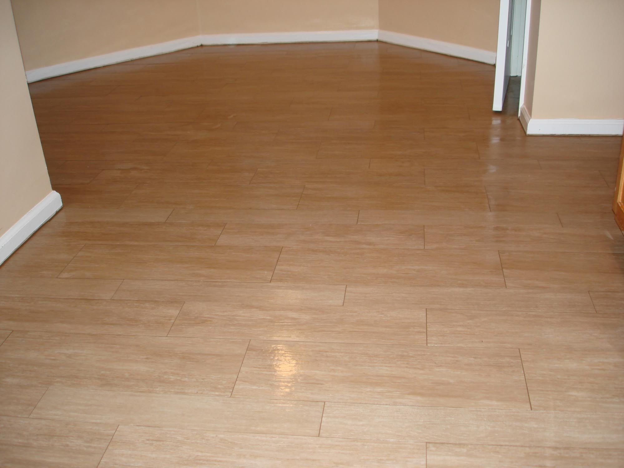 Pin by C Trotty on Flooring Wood tile floor kitchen